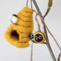 Felted Wool Bumblebee Garland | Ethical Shopping
